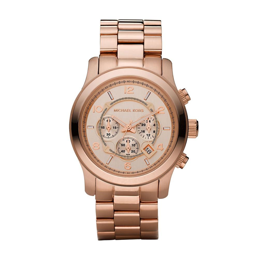 Runway Oversized Rose Gold Tone Watch