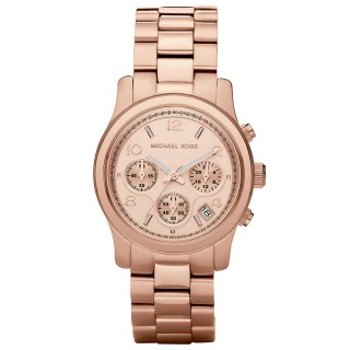 Rose Gold Tone Chronograph Runway Watch