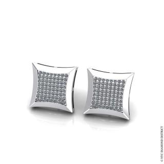 Cluster Square Earrings