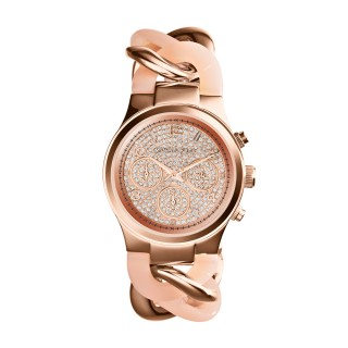 Runway Twist Rose Gold Tone Watch