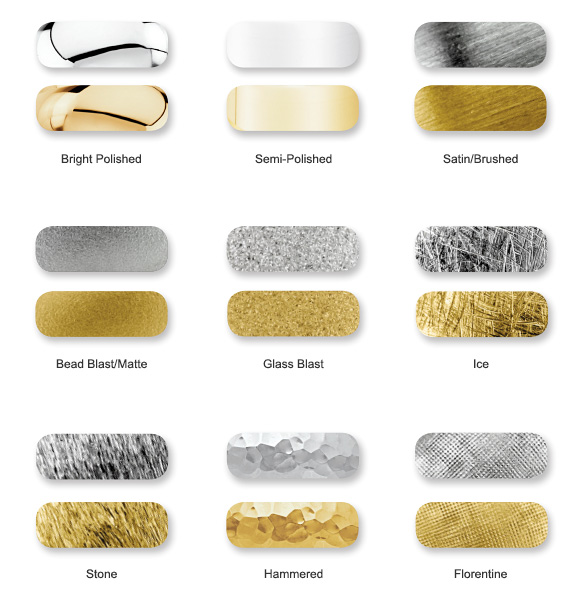 Finishing Types - Precious Metals
